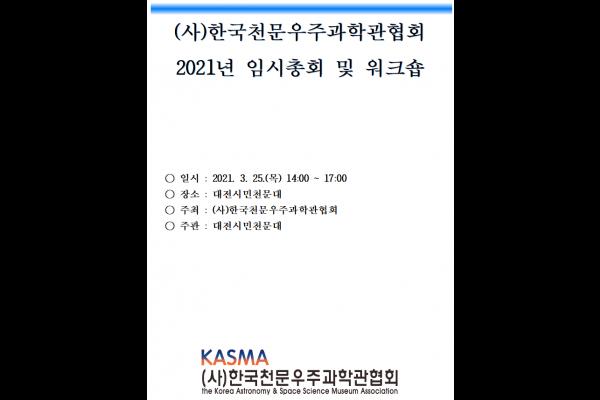 2021년 3월 25일 온라인 임시총회 개최 사진